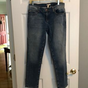 Eileen Fisher Distressed Straight Fit Jeans